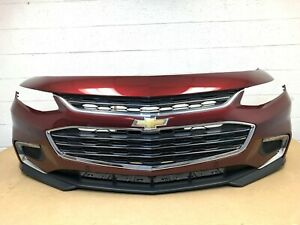 2016 2017 2018 chevy malibu front bumper with 4 sensors (baroque red met)  #173