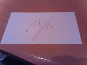 signed card of ex lincoln city northampton town footballer cian bolger