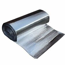 BUBBLE INSULATION AIR CELL REFLECTIVE FOIL ROOF RADIANT SHIELD ALUMINIUM