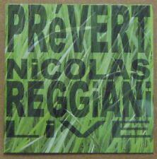 Jacques Prévert CD Nicolas Reggiani Francofolies de La Rochelle 2000