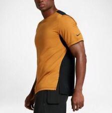 Nike nikelab Essentials BASE LAYER JERSEY TEE TOP 849791-744 Taglia L OCRA NERO