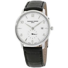 Frederique Constant Slimline Silver Dial Leather Strap Men's Watch FC245SA5S6
