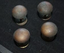 Brass Drawer Knobs Lot of 4 Dresser knob cabinet Antique Vintage round backplate
