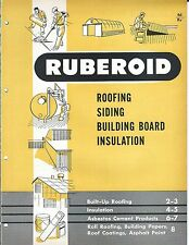 MRO Brochure - Ruberoid - Roofing Siding Board Insulation Asbestos c1952 (MR81)