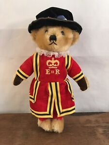 MerryThought Royal Guard Beefeater Bear Doll Made in England for Harrods