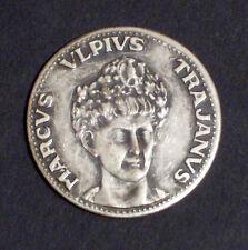 MEDAGLIA - MARCUS ULPIUS TRAJANUS - LE GRANDI FIGURE DI ROMA - 1980