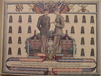 1944 Original Esquire Art WWII Era Army Insignia NANETTE FABRAY IRENE MANNING