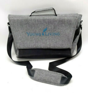 YOUNG LIVING 2017 GRAY CONVENTION MESSENGER BAG ~ LIMITED EDITION ~ EUC