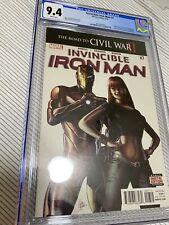 Invincible Iron Man #7 3rd Print CGC 9.4 1st Cameo Riri Williams Marvel Studios