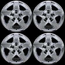 "4 Chrome 07-12 fits Malibu G6 Aura 17"" Bolt On Hub Caps 5 Spoke Rim Wheel Covers"