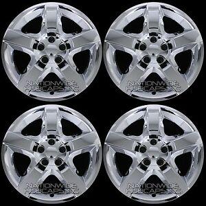 "4 CHROME 07-12 fits MALIBU G6 AURA 17"" Bolt On Hub Caps 5 Spoke Rim Wheel Covers"