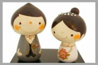 Usaburo Wedding Kokeshi Wooden Figure Doll Happiness Handcraft Made in Japan