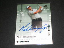 NICK DOUGHERTY SIGNED AUTOGRAPHED AUTHENTIC PACK PULLED CERTIFIED ROOKIE CARD #D