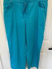 Greys Anatomy Womens Size 2Xl Blue Elastic Drawstring Waist Scrub Pants New