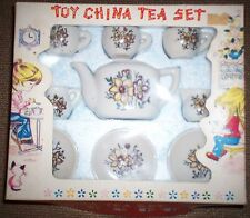 VINTAGE TOY CHINA TEA SET WITH ORIGINAL BOX  50'S 60'S