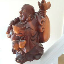 Gorgeous wooden carved and polished Budda