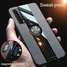 For Huawei Y7a Y9a Y6p Y5p Y8p Y9s Y8 Max Cloth Case Magnetic Ring Holder Cover