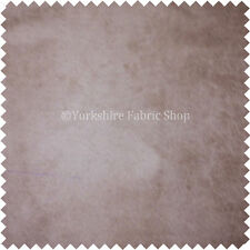 Aged Distressed Effect Beige Fabric Soft Suede Material Upholstery Fabric