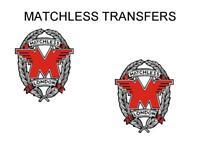 Matchless Toolbox and Oil Tank Transfers Decals Stickers Motorcycle Silver