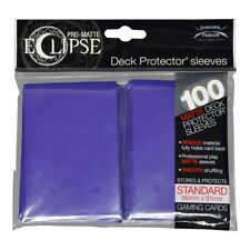 100x Ultra Pro Matte ECLIPSE Deck Protector MTG Card Sleeves Pokemon - PURPLE