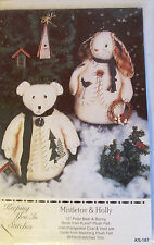 "Keeping You In Stitches ""Mistletoe & Holly"" Vintage 12"" Polar Bear Doll Patterns"