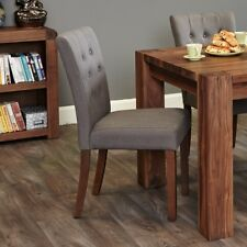 Shiro Grey Dining Chair Flare Back Pair of 2