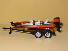 BASS FISHING BOAT WITH TRAILER 1/64 SCALE DIECAST REPLICA DIORAMA MODEL W20