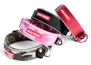 WIDE PADDED NEOPRENE DOG COLLAR (NON ROT / NON SMELL) & REFLECTIVE BY EZY-DOG