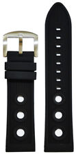 20mm Panatime Black Waterproof Rally Stripe Watch Band For Breitling 125/80