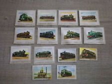 Chromos chocolat Jacques sur les trains anciens lot de 14 chromos