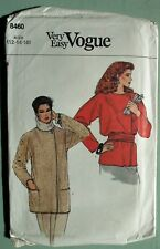 Vintage 80s Very Easy VOGUE sewing pattern 8460 women's jacket 12 14 16 M UNCUT