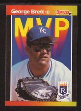 George Brett--1989 Donruss MVP Baseball Card--Kansas City Royals