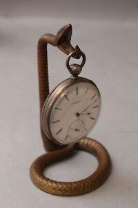 Circa 1900 Antique German Bronze Figural Snake Pocket Watch Holder, No Reserve