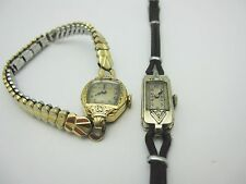 Vintage Ladies Bulova 10K Gold Filled and Birks Diamond Trim Watches