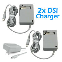 2Pcs Travel AC Wall Home Charger Power Adapter for Nintendo 3DS XL 2DS NDSi DSi
