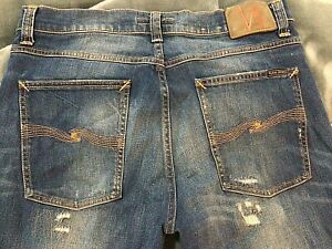 Mens Nudie Jeans Co Distressed size 34x34  Straight Leg