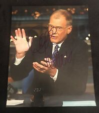 DAVID LETTERMAN SIGNED 8X10 PHOTO LATE SHOW TALK SHOW LEGEND CBS W/COA+PROOF