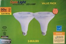 2 pack PAR38 LED 12W 2700K Warm White Indoor/Outdoor Flood Light Bulbs 90 Watt