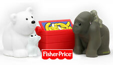 New Fisher Price Little People Zoo Figurine Animal Set Polar Baby Bear & Gorilla