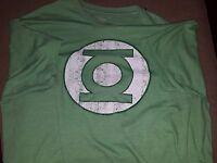 Green Lantern Hal Jordan Symbol DC Originals Distressed T-Shirt Mens XL