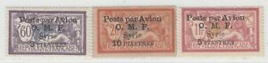 SYRIA 1922  ISSUE  UNUSED  STAMPS YVERT A 11/13 = SCOTT C 11/13