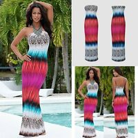 Summer Boho Women Floral Evening Party Dress Beach Dresses Long Maxi Dresses