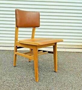 Set of 4 ~ GUNLOCKE REMINGTON RAND Mid Century Danish Library Chairs