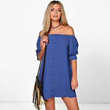 Fashion Women's Long Sleeve Casual Blouse Ladies Loose T Shirt Tops Mini Dress