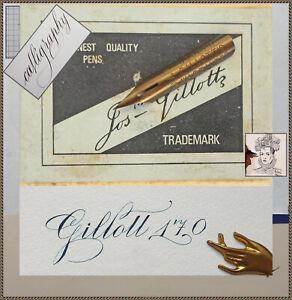 6 vintage J.Gillott's no.170 nibs
