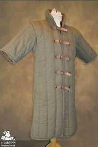 GAMBESON - BROWN SHORT SLEEVE Medieval Viking Armour Reenactment Jacket