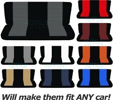Two-Tone Bench Seat Covers for Car/Truck/Van/SUV 60/40 40/20/40 50/50 or Solid