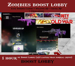 Call of Duty Black Ops Cold War Zombies Prestige Lobby - Camos Weapon XP Boost