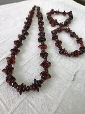 """20.25"""" and Two 7.5"""" Bracelets - New Handmade Baltic Amber & .925 Ss Necklace"""