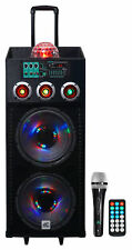 "NYC Acoustics N212B Dual 12"" 700w Powered DJ Party Speaker Bluetooth, Lights+Mic"
